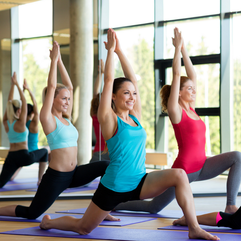 Lunges during Vinyasa Flow Yoga